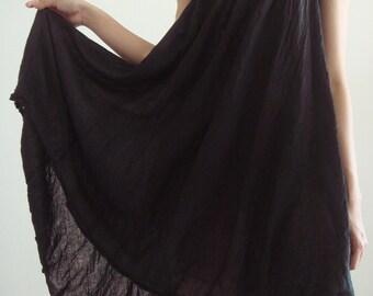 D10, Swan Cotton, Dark brown dress