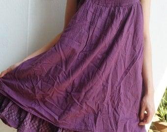 D17, Easy Going Summer Purple Cotton Dress