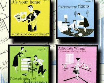 1950s Home Retro Decorating Coaster Set Housewarming Gifts Under 20