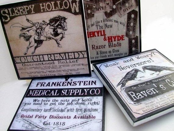 Haunted Halloween Coasters