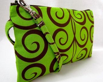 Zippered Wristlet/Pouch/Wallet/Purse/Bag/Clutch