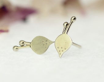 BEET Sterling Silver Stud Earrings Vegetarian gift