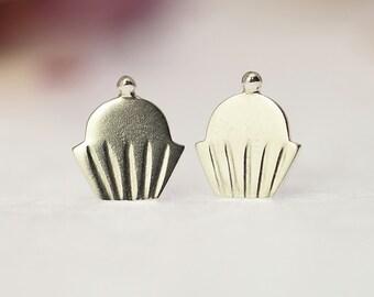 CUPCAKE Stud Earrings Sterling Silver