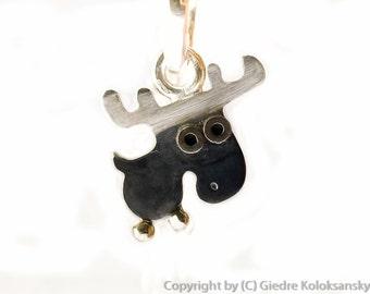 MOOSE Silver Pendant Mini Zoo series