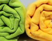 yellow and green peshtemals