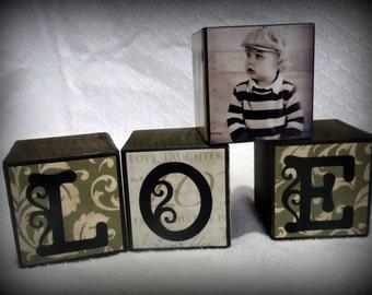 LOVE Photo Block Set