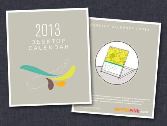 50% OFF - 2013 Printable CD Case Calendar - TEMPLATE 1.0
