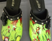 zombie feet hand painted shoes