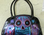 Day of the dead Voodoo black n metallic handbag