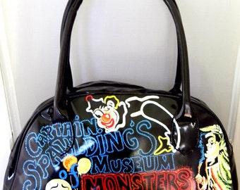 captain spauldings museum of monsters and madmen hand painted handbag
