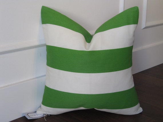 Apple green stripe decorative pillow cover 18x18inch