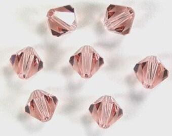 25 Genuine Swarovski Crystals in Vintage Rose 4MM