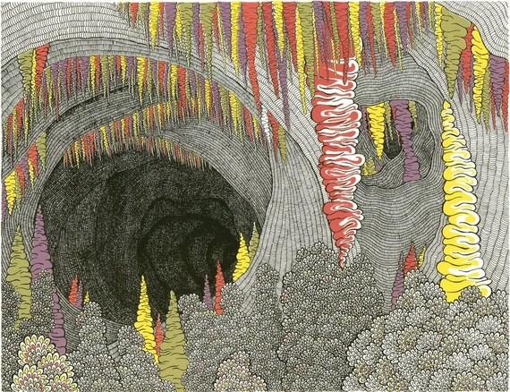 Color Cave Screenprint 22x30