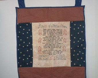 Quilted Army wall hanging