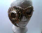 Steampunk Stacie film production Leather Mask CUSTOM ORDER FOR Sethapart