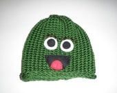 Green Monster Toddler Hat with Friend Set