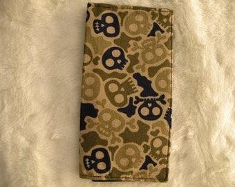 Skull Checkbook Cover