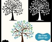 Big Trees Digital Clipart Set - Personal and Commercial Use - Scrapbooking, card design, web design