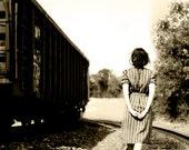 "Women's Shift Dress .Vintage 1970's . Small Blue Purple Silver ""Asher"" Dress"