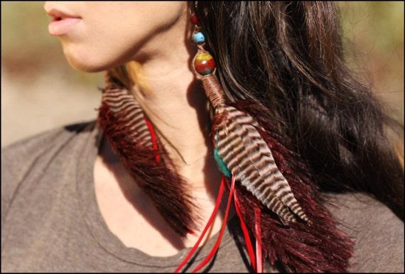 SALE - Osieau Woodland earrings
