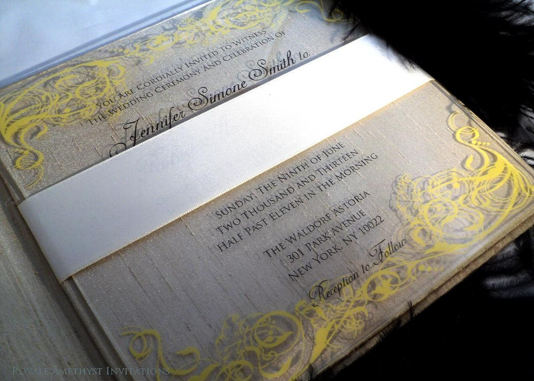 Elegant Acrylic Lucite Wedding Invitation Suite By