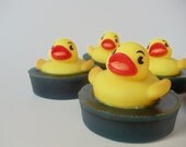 Rubber Duck in a Pond Soap - duck baby shower favor, birthday party favor