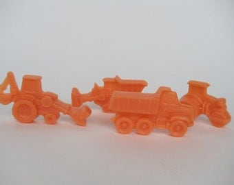 8 construction vehicle soap favors - truck, backhoe, tractor, digger party favors - truck baby shower favors - vehicle soap birthday favors
