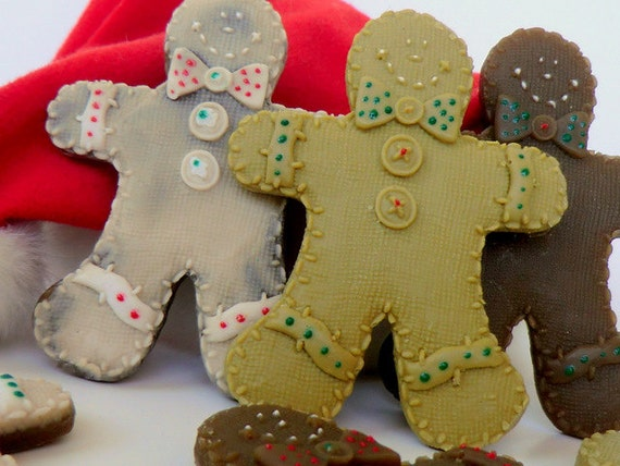10 Christmas Gingerbread Soap - Christmas favors, stocking stuffer