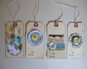 Set of 4 Whimsical Gift Tags