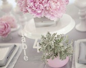 Block Typography Acrylic Table Numbers 1-9