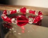 Red & Crystal Heart Bracelet for Girls