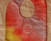 batik sunface bib- multicolors