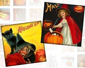 Victorian Halloween ephemera digital collage sheet pedant scrabble tile 1x1 inch for jewelry making download (146) Buy 3 - get 1 bonus