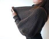 Shrug / Bolero / Sweater / Top  Dark Chocolate Long Sleeved