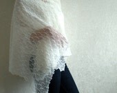 Wedding Linen Scarf Lace Shawl Bridal Stole Knitted Lightness on Shoulders