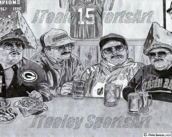 """Chris Farley Art """"Da Packers"""" Poster - Super Fans"""