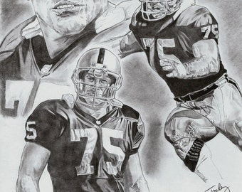 Howie Long of L.A. Raiders Poster Art