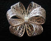 RESERVED FOR TRIZZIE - Vintage Sterling Silver Christmas Bow Brooch