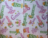 PRICE REDUCED - Vintage Signs of the Zodiac Linen Tablecloth