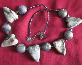 Heart to Heart Stone Necklace