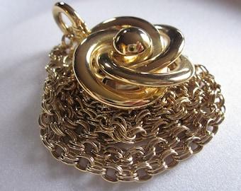 Vintage Modernist Rose Necklace