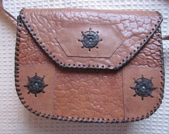 Vintage Leather Purse - Interesting Design