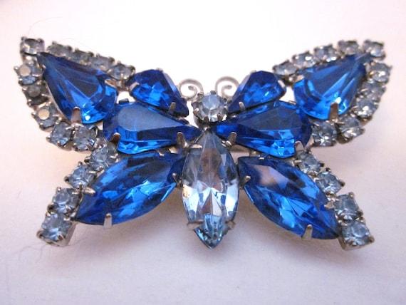 Vintage Blue Butterfly Brooch