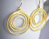 Spiral earrings gold plated