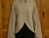 Lt Gray Fleece Jacket Handmade