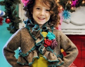 Girls One of a Kind upcycle Christmas Sweater