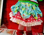 Girls Christmas Skirt