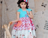 Girls Easter Dress with Balloons Up Up and Away