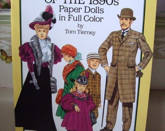 Vintage American Family of the 1890s Paper Doll Booklet, Uncut, 1987