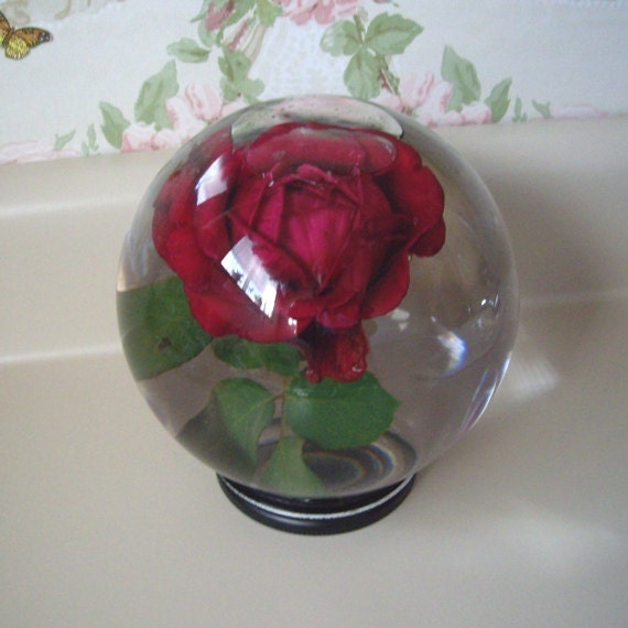 Vintage Bowl O Beauty Water Globe for Real Roses collectible